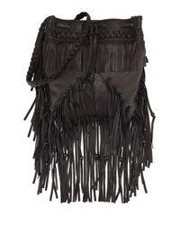 Kooba - Black Janis Fringed Drawstring Bag - Lyst