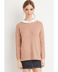 Forever 21 | Purple Textured Knit Sweater | Lyst