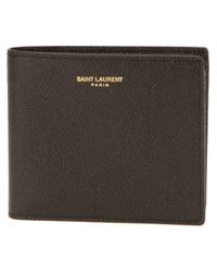 Saint Laurent | Black Bifold Wallet for Men | Lyst