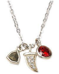 Judith Jack | Multicolor Sterling Silver Crystal And Marcasite Multi Charm Necklace | Lyst