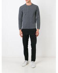 JOSEPH - Gray Exposed Seam Sweater for Men - Lyst