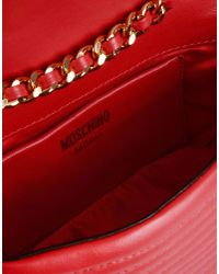 Moschino | Red Biker Jacket Small Leather Bag | Lyst