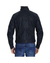 Matchless | Blue Down Jacket New Kensigton Coated Nylon Sahariana Jacket for Men | Lyst