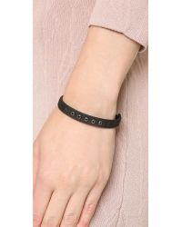 Marc By Marc Jacobs | Black Grommet Friendship Bracelet - Garnet | Lyst