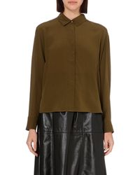 French Connection Green Super Silk Shirt - For Women
