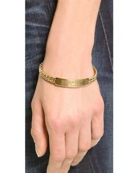 Marc By Marc Jacobs Metallic Standard Supply Fixed Chain Bangle Bracelet - Oro