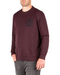Racing Green - Red Owen Flocked Logo Sweat for Men - Lyst