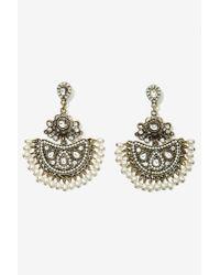 Nasty Gal | Metallic Pearl's Night Out Chandelier Earrings | Lyst