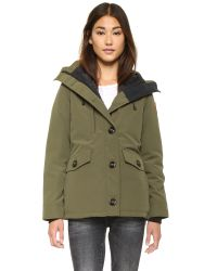 Canada Goose | Rideau Parka - Military Green | Lyst