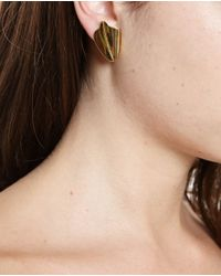 Loewe | Metallic Small Leaf Earrings | Lyst