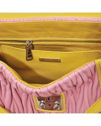 Miu Miu - Pink Amiulet Matelassé Top Handle Bag - Lyst