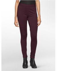 Calvin Klein | Red Jeans Pull On Ponte Leggings | Lyst