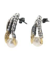 Tessa Metcalfe - Metallic Oxidised Pearl Of London Earrings - Lyst