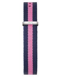 Daniel Wellington Blue 0952dw Women's Winchester Classy Canvas Strap Watch