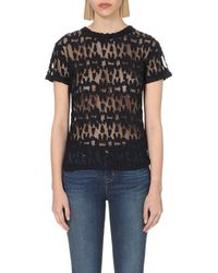 Maje | Blue Thing Lace T-shirt | Lyst