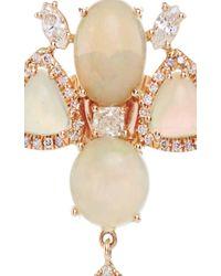 Nina Runsdorf - Multicolor White Opal And Fancy Diamond Earrings - Lyst