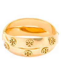 Tory Burch | Metallic Double Logo Bracelet | Lyst