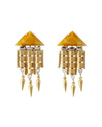 DANNIJO - Orange Ayla Earrings - Lyst