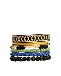 ASOS - Black Festival Bracelet Pack for Men - Lyst