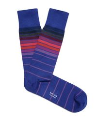 Paul Smith | Purple Graduated Block Stripe Socks for Men | Lyst