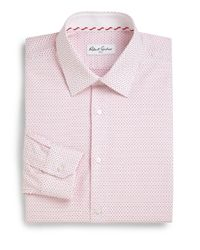 Robert Graham - Pink Clarence Mini Dot Dress Shirt for Men - Lyst