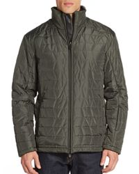 Tumi | Green Id Lock Quilted Jacket for Men | Lyst
