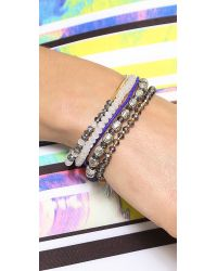 Chan Luu - Multicolor Beaded Bracelet Set Blue Mix - Lyst