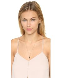 Rebecca Minkoff - Metallic Two Charm Y Necklace - Gold/black - Lyst