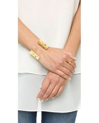 Tory Burch | Metallic T Logo Cuff Bracelet | Lyst