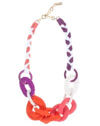 Missoni Pink Fabric Beaded Necklace