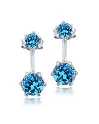 Lord & Taylor | Blue Stone And Sterling Silver Stick Drop Earrings | Lyst