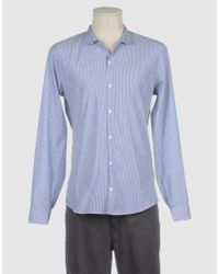 Suit - Blue Long Sleeve Shirt for Men - Lyst