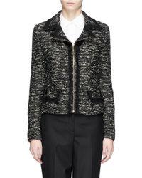 St. John Metallic Tweed Knit Jacket