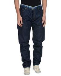 Stone Island - Blue Denim Pants for Men - Lyst