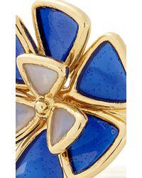 Alison Lou - Blue Wildflower Enamel Ring - Lyst