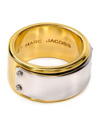 Marc By Marc Jacobs Metallic Id Plaque Ring