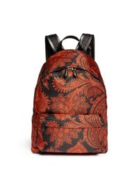 Givenchy Multicolor Paisley Print Backpack for men