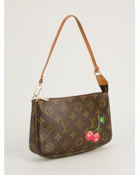 Louis Vuitton Brown Louis Vuitton X Takashi Murakami 'Cerise Pochette' Bag