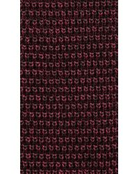 Burberry Red Knitted Silk Tie for men