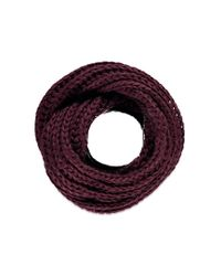 Forever 21 - Purple Chunky Knit Infinity Scarf - Lyst