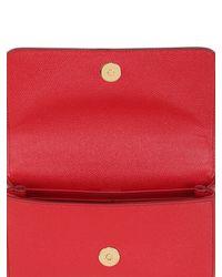 Dolce & Gabbana - Red Jeans Dauphine Leather Shoulder Bag - Lyst