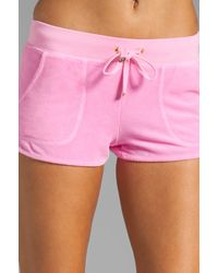 Juicy Couture Pink Velour Neon Dolphin Short