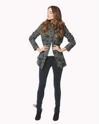 Veronica Beard Green Elba Hooded Flack Jacket