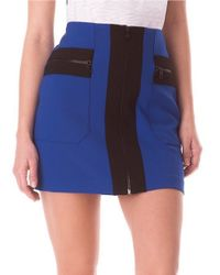 Sam Edelman Blue Zipper Mini Skirt
