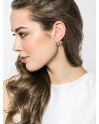 BaubleBar - Metallic Pavã© Halo Ear Jackets - Lyst