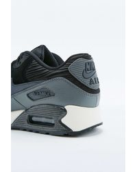 Nike | Air Max 90 Black Leather Trainers | Lyst