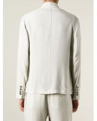 Giorgio Armani | Natural 'mao' Buttoned Jacket for Men | Lyst