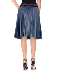 Pinko - Blue Denim Skirt - Lyst
