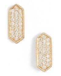 Dana Rebecca Metallic 'cynthia Rose' Diamond Pave Stud Earrings