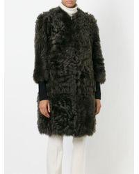 Marni   Gray Zipped Up Coat   Lyst